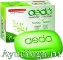 "Тулси-Ним мыло Аеда ""Натурал Грин"" (K.P. Namboodiri's Aeda soap - Natural Green)"