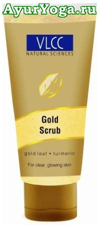Очищающий Скраб для лица с Золотом 24 карата (VLCC Gold Polishing Face Scrub)